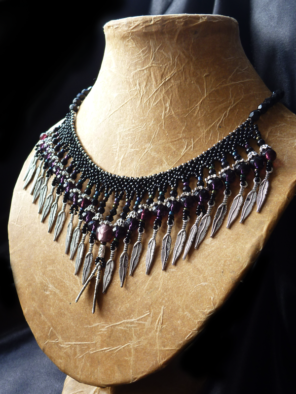 Beading practice turns into a new Gothic necklace!