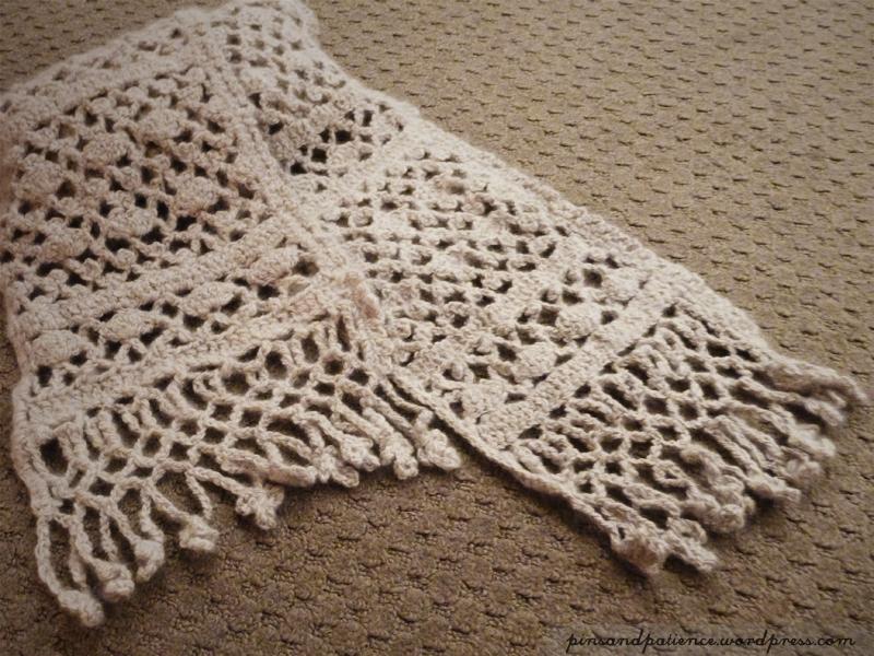 Zirconia Crochet LaceScarf