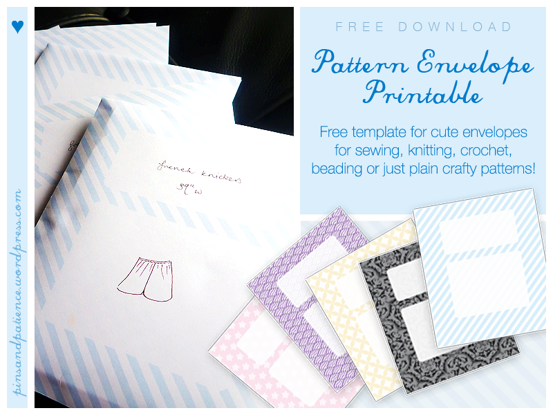 Morganisation with Free Printable Sewing Pattern EnvelopeTemplate
