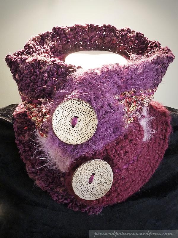 My Handmade Scarf #9: Weirdly Crochet Neck Cowl + FREEPattern!