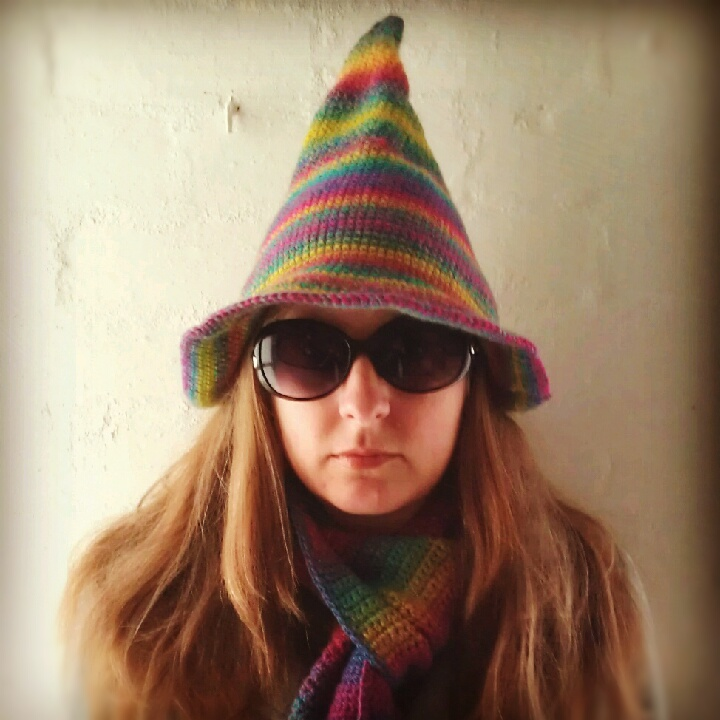Rainbow Awesomeness in the form of Crochet Hat and Scarf: Another Completed Project
