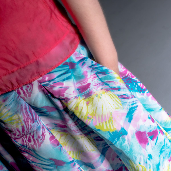 Sew 2012 #017: Rainbows and Paddle Pops Skirt