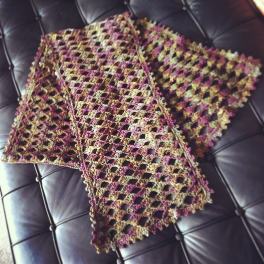 Mystery Scarf No Longer A Mystery – Completed Crochet Project