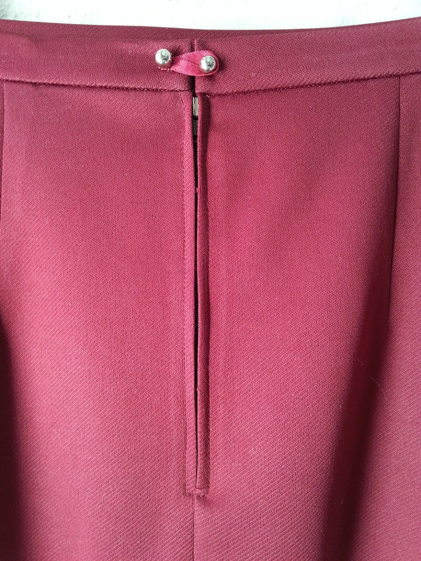 Bat Pencil Skirt - Back waist fastening and zipper
