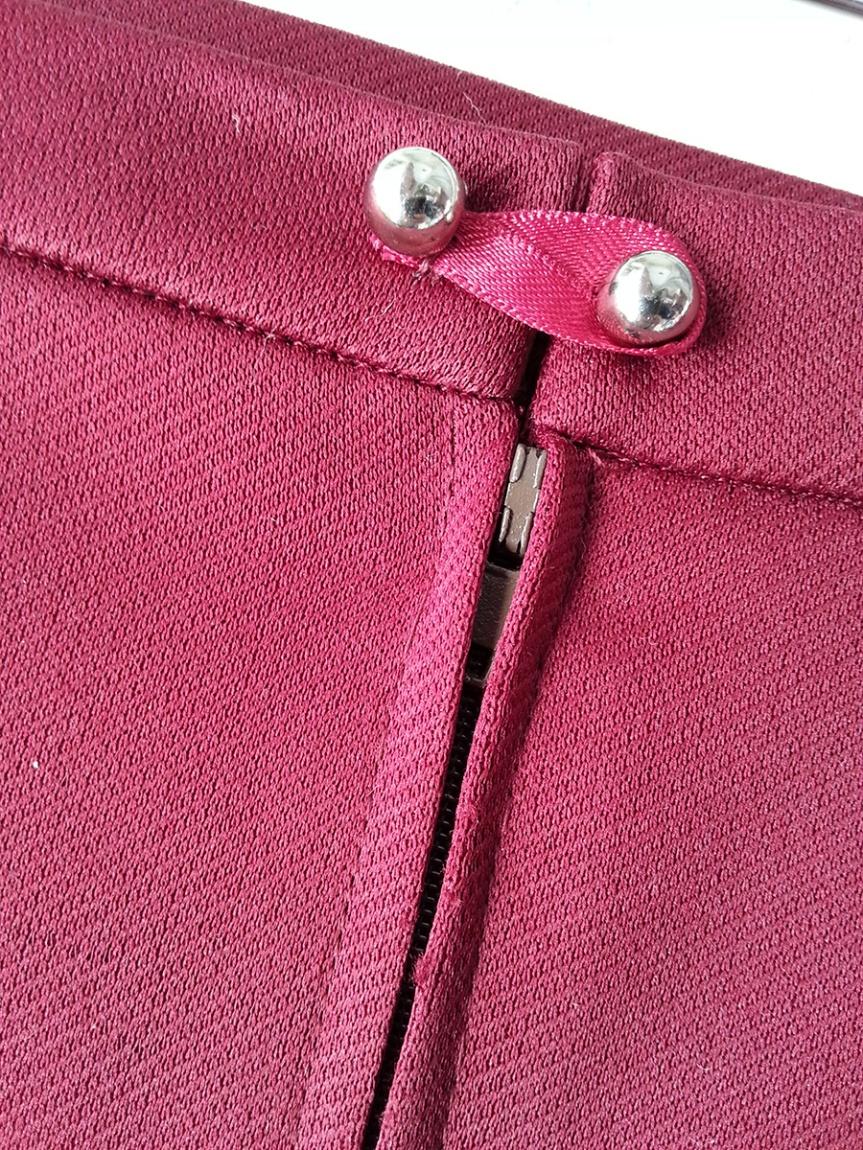 Bat Pencil Skirt - Back waist fastening and zipper detail