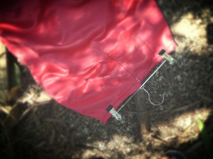 Sew 2012 #021: Hot Pink Satin Sexy Pencil Skirt: Back