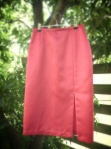 Sew 2012 #021: Hot Pink Satin Sexy Pencil Skirt