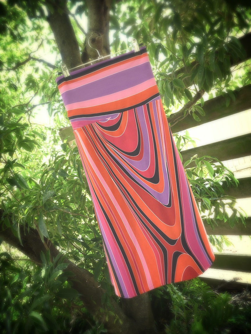 Completed: Jersey Hippy Swing Skirt