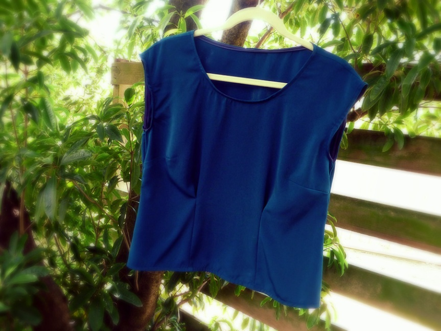 Completed: Blue Portrait Blouse