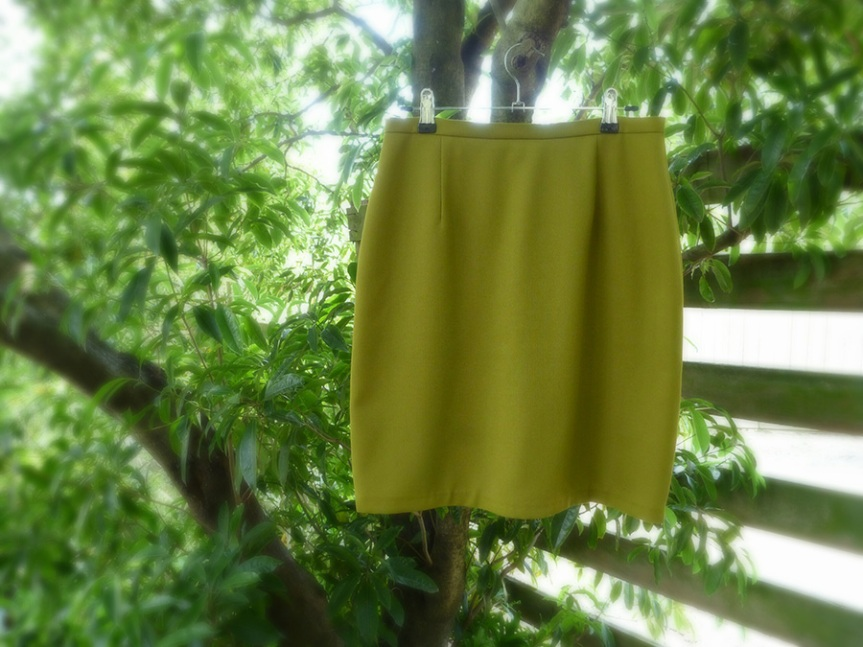 Completed: Green Mini Skirt