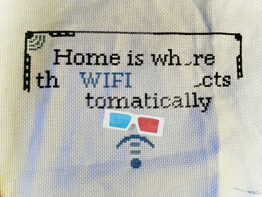 Cross Stitch for the GuestRoom