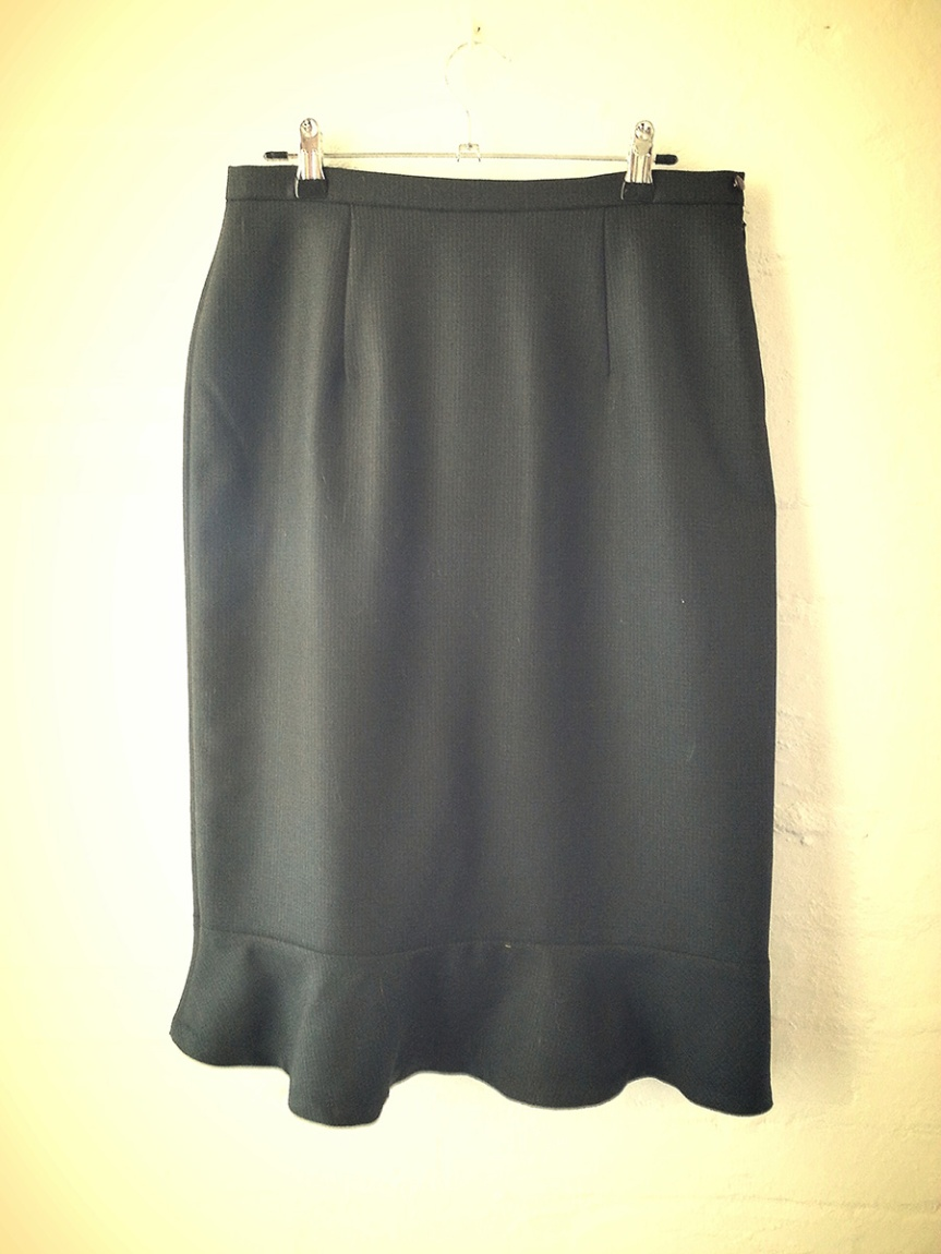 Clydette Pencil Skirt: Back