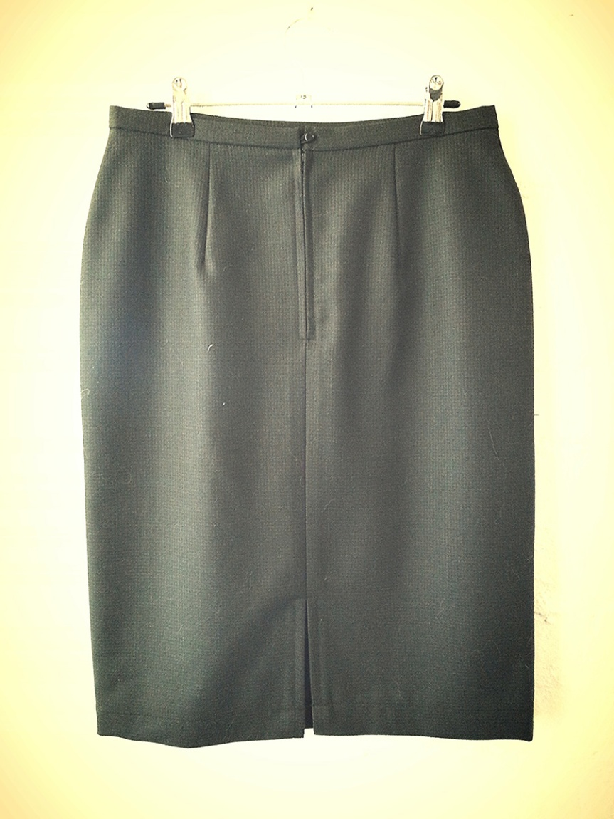 Clyde Pencil Skirt: Back