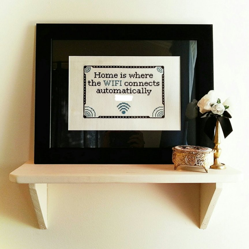Cross Stitch for the Guests Room Update